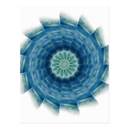 Ocean Waves Kaleidoscope Art 7 Postcard