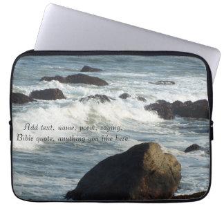 Ocean waves laptop sleeves