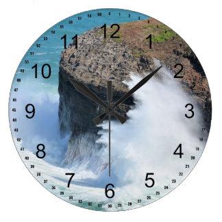 Ocean waves large clock
