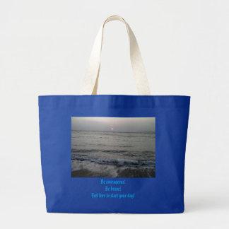 Ocean waves! large tote bag