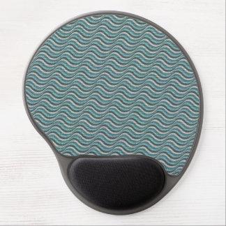 Ocean Waves Linen Look Gel Mousepads