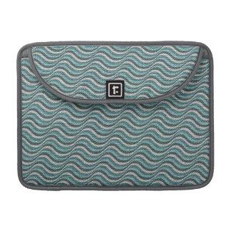 Ocean Waves Linen Look MacBook Pro Sleeves