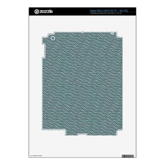 Ocean Waves Linen Look iPad 3 Decals