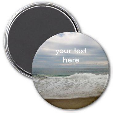 Beach Themed Ocean Waves Magnet