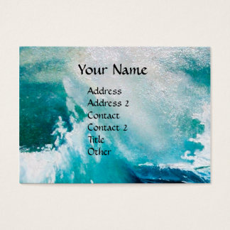 OCEAN WAVES MONOGRAM / Ship In the Sea in Storm Business Card