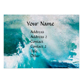 OCEAN WAVES MONOGRAM / Ship In the Sea in Storm Large Business Card