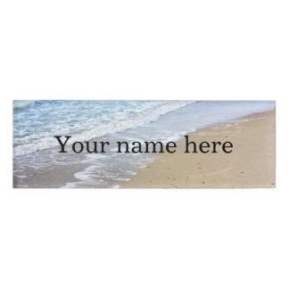 Ocean waves name tag