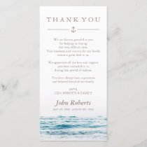 Ocean Waves | Nautical Sympathy Thank You