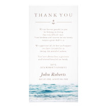 Ocean Waves | Nautical Sympathy Thank You Card