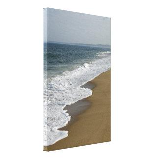 Ocean Waves on the Sea Shore Canvas Print