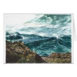 Ocean waves -Oregon coast Cards