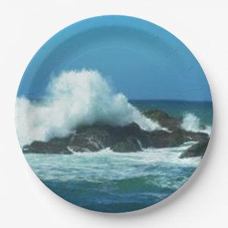 Ocean Waves Paper Plate