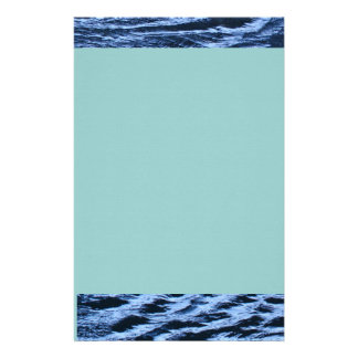 Ocean Waves Pattern Stationery
