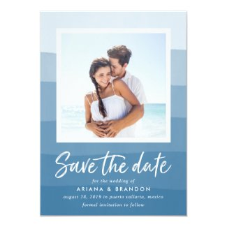 Ocean Waves   Photo Save the Date Card
