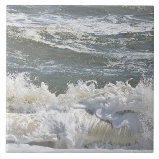 Ocean waves ripples Ceramic Tile