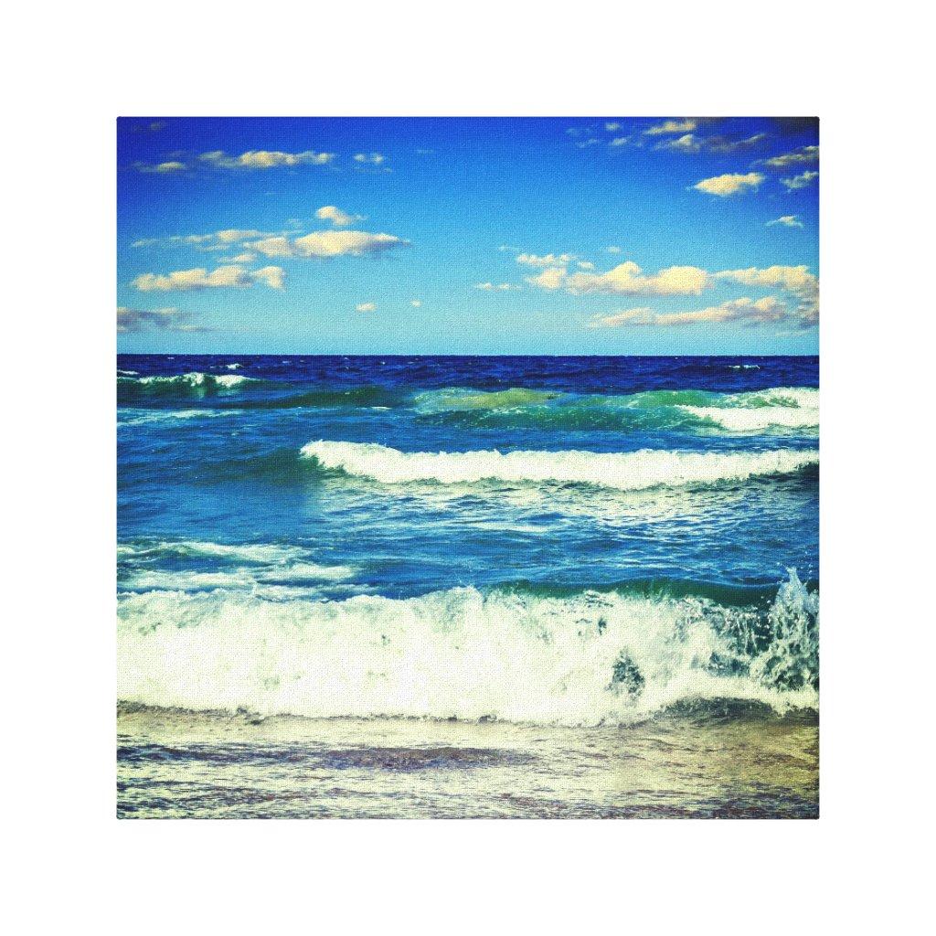 Ocean Waves Rolling Into Shore