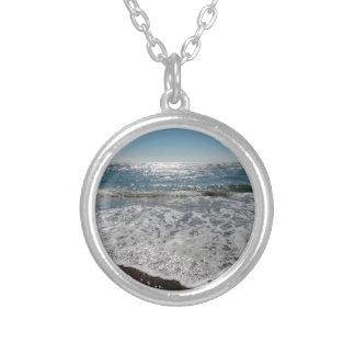 Ocean Waves Round Pendant Necklace
