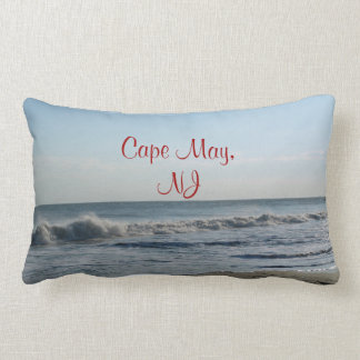 Ocean Waves & Sand Cape May, NJ  Pillow