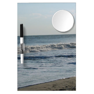 Ocean Waves & Sand Dry Erase Board with Mirror