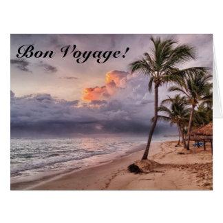 Ocean Waves Sandy Beach Sunset Card