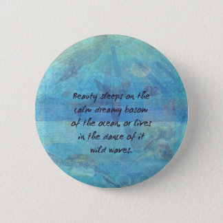 Ocean waves sea quote with sea life button