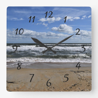 Ocean Waves Square Wall Clock