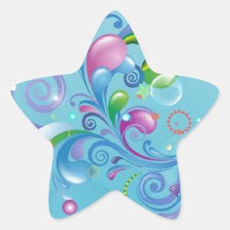 Ocean Waves Star Sticker