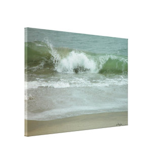 Ocean waves Stretched Canvas Print