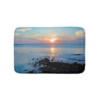 ocean waves sunrise bathmat