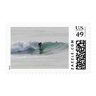 Ocean Waves Surfing Surfers Postage Stamps