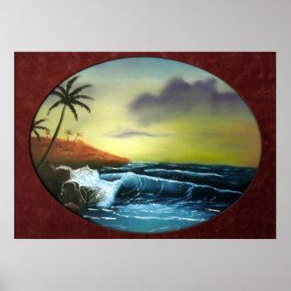 Ocean Waves Tropical Island - Mike Kiss Posters