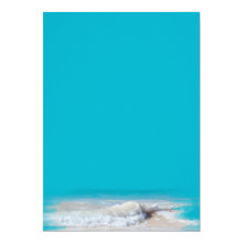 Ocean Waves Turquoise Wedding Blank Paper 5x7 Paper Invitation Card