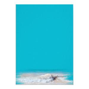 Ocean Waves Turquoise Wedding Blank Paper Cards