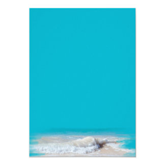 Ocean Waves Turquoise Wedding Blank Paper Invitation