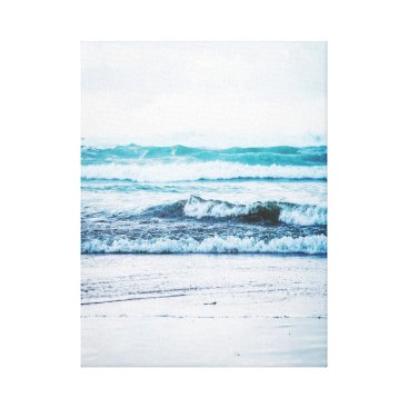 Beach Themed Ocean waves version 2 Photography Canvas