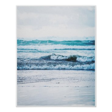 Beach Themed Ocean Waves version 2 Photography Poster Print