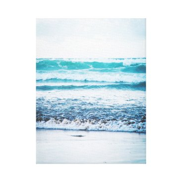 Beach Themed Ocean Waves version 3 Photography Canvas print