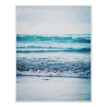 Beach Themed Ocean Waves Version 3 Photography poster print