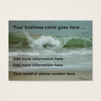 Ocean waves water Business Cards