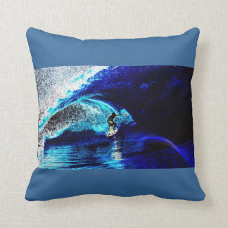 ocean waves water sports I love surfing surfer Throw Pillow