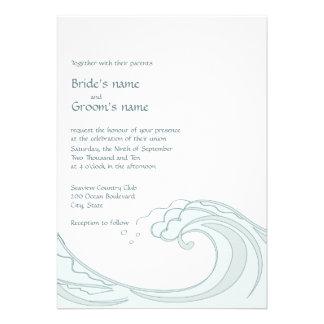 Ocean Waves Wedding Invitations