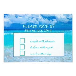 Ocean Wedding Set 1 - RSVP Card