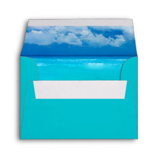 Ocean Wedding Set 1 - RSVP Envelope