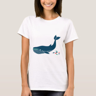 Ocean Whale with little fish T-Shirt