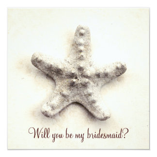 ocean whisper - starfish bridesmaid invitation