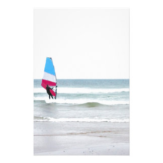 Ocean Windsurfer with Red White and Blue Stationery Design