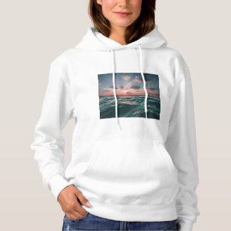 Ocean with Buddha Quote Hoodie