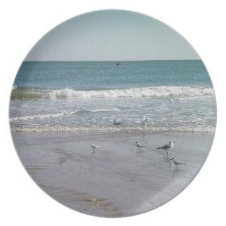 Ocean with Seagulls Dinner Plate