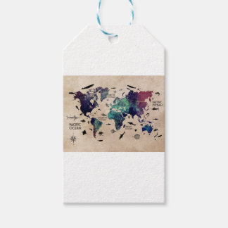 World map gift tags zazzle ocean world map gift tags gumiabroncs Choice Image