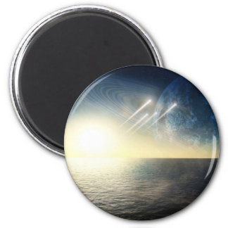Ocean world with squadron 2 inch round magnet